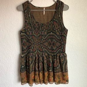 Free People | Paisley Floral Tank Top